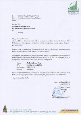 contoh surat permohonan STM
