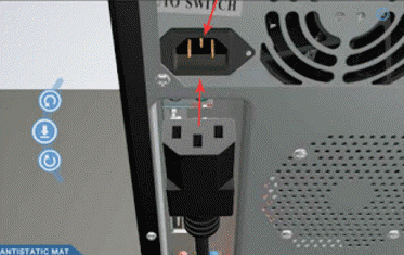 cara menyambungkan kabel power ke CPU