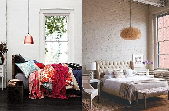 Recortes decorados paredes de ladrillo un cl sico muy - Decoracion de paredes de dormitorios ...