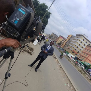 Hamza Bin Yusuf, a Garissa correspondent covering a story. PHOTO | Courtesy