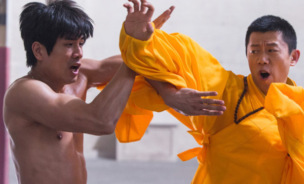 The legendary fight between Bruce Lee (Philip Ng) and Wong Jack Man (Xia Yu) in BIRTH OF THE DRAGON (2017)
