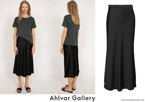 Crown Princess Victoria wore Ahlvar Gallery Hana Satin Skirt