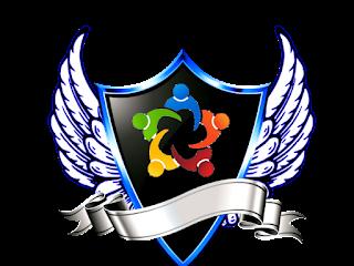 Logo Polos Perisai Bersayap warna warni