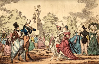 Hyde Park Corner in 1822 by Cruickshank  from The story of the London Parks by J Larwood (1874)