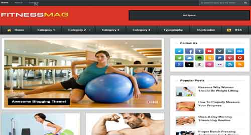 Fitness Mag Blogger Template