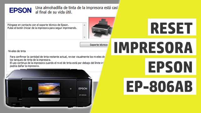 almohadillas impresora Epson EP806AB