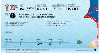 تذكرة مباراة روسيا والسعودية