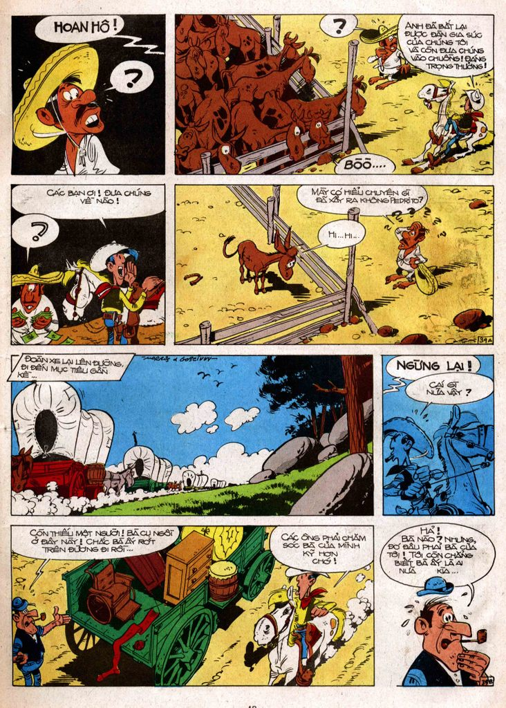 Lucky Luke tap 3 - doan lu hanh trang 38