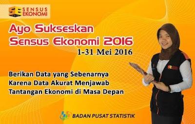 Sensus Ekonomi 2016 Dan Cakupan Sasarannya