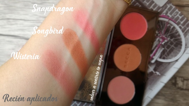 BECCA   Palette Blushed with Light - Swatches & Review