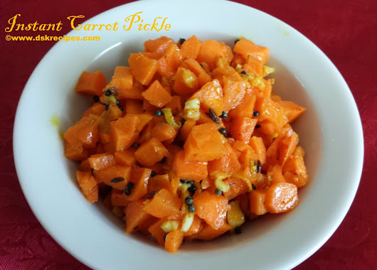 DSK Recipes: Aap Ki Rasoi Se / From your Kitchen : Instant Carrot Pickle : Recipe by Gauri Pimprikar