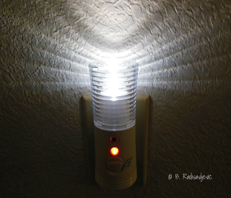 Rechargeable Power Failure LED Night Light: A Review