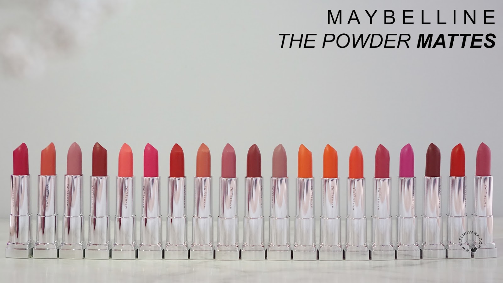 27 Maybelline The Powder Mattes Full Swatches And Review