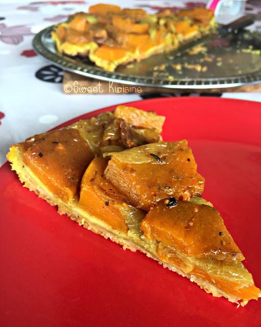 sweet kwisine, tarte, tatin, giraumon, potiron, gourge, curry, chadwon béni, coriandre longue, coriandre, cuisine antillaise, martinique, guadeloupe, caribbean food