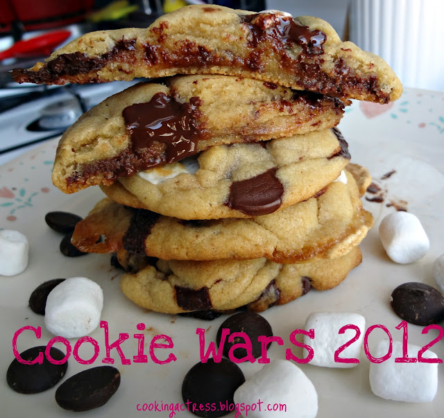Browned Butter Dark Chocolate and Marshmallow Cookies
