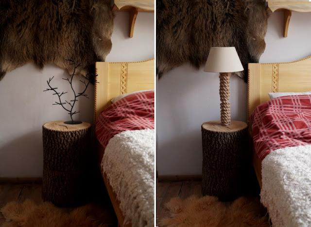 DIY HOME: Drewniana, surowa lampka nocna, czyli cuda na… pniu!