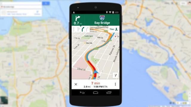 Google Maps header copy