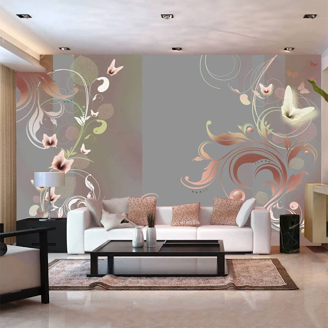 Modern Living Room Wallpaper Design ideas
