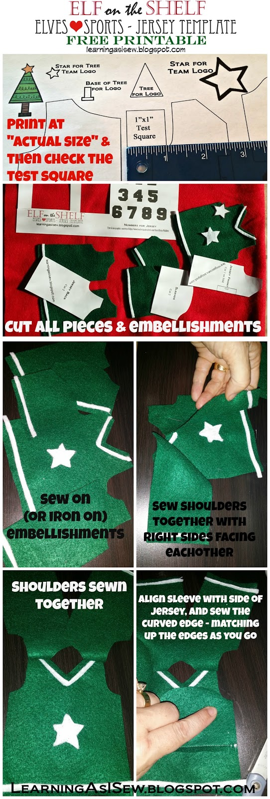 Elf on the Shelf: Free Sports Jersey Printable and Instructions