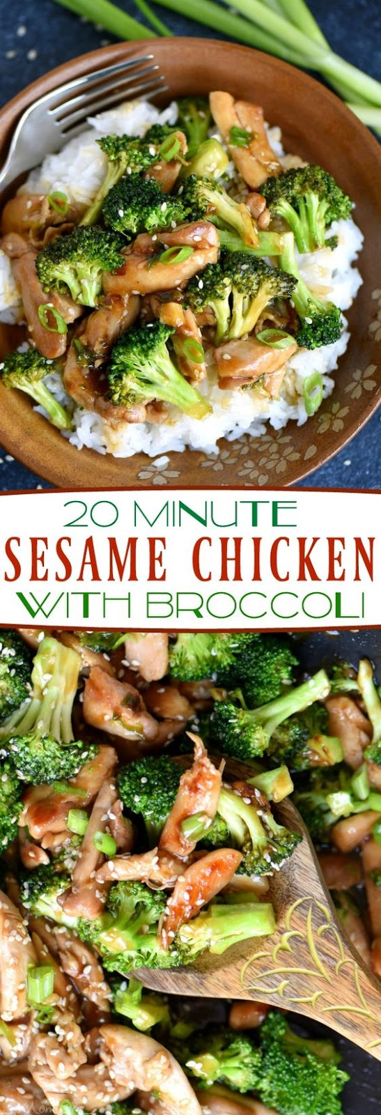 20 Minute Sesame Chicken and Broccoli