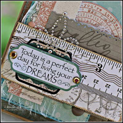 Live Your Dreams card featuring Baggage Claim by Quick Quotes designed by Rhonda Van Ginkel