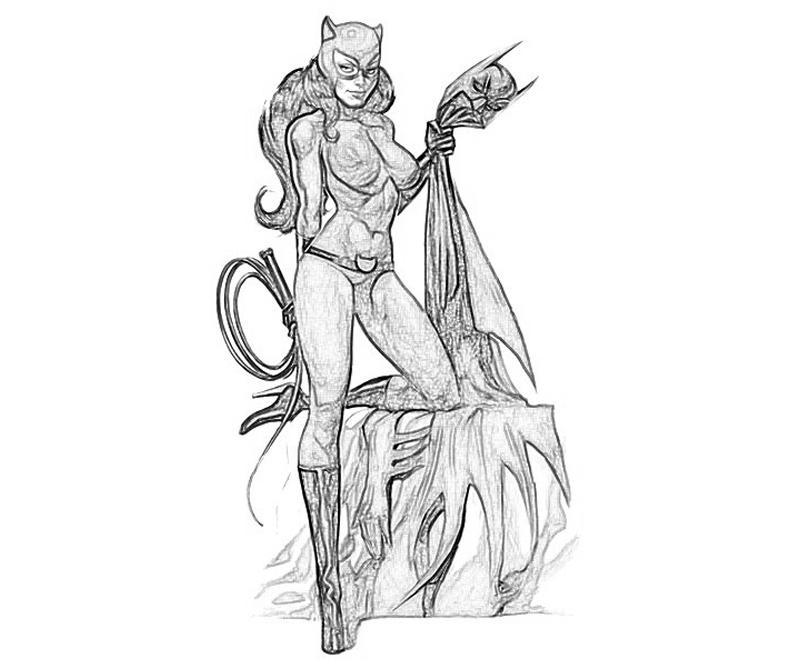 Batman Arkham City Catwoman Pose How Coloring