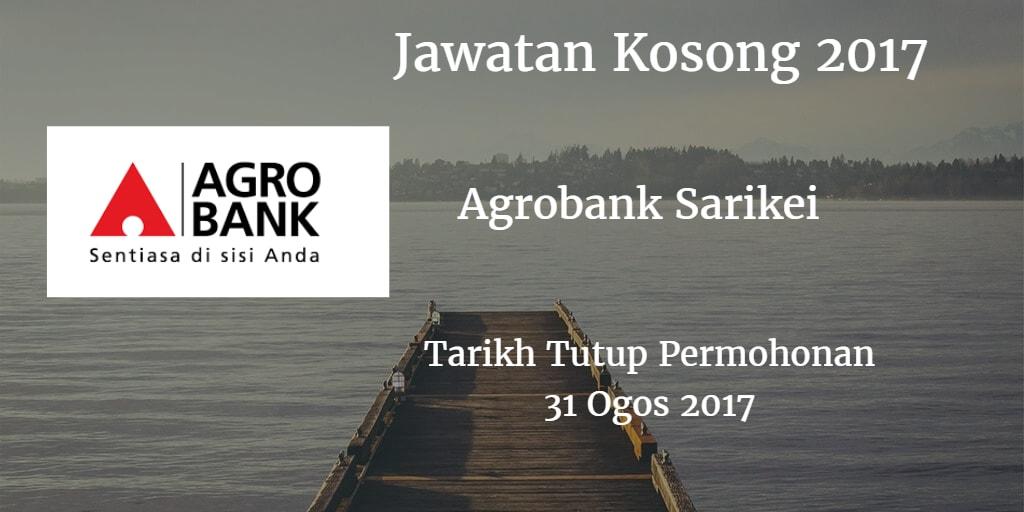 Jawatan Kosong Agrobank Sarikei 31 Ogos 2017