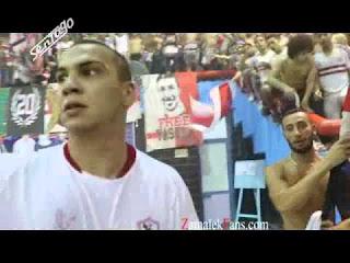شاهد إحتفال لاعبي الزمالك مع الجمهور بالشماريخ وهتاف campione campione