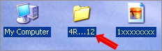 remove blue shadow from desktop icon