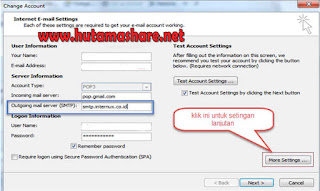 Setting Email Outlook Bolt