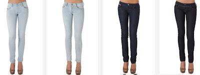 Pantalones vaqueros slim para mujer
