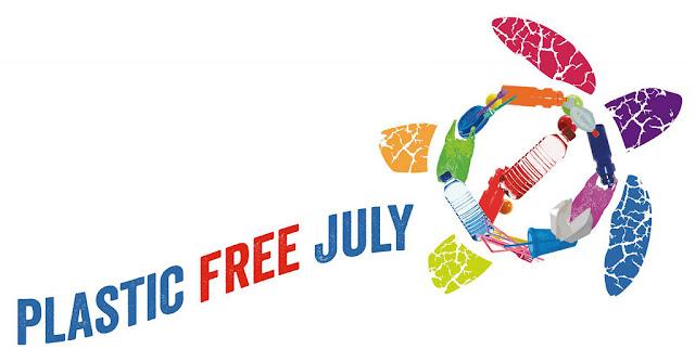 plastic free july logo banner