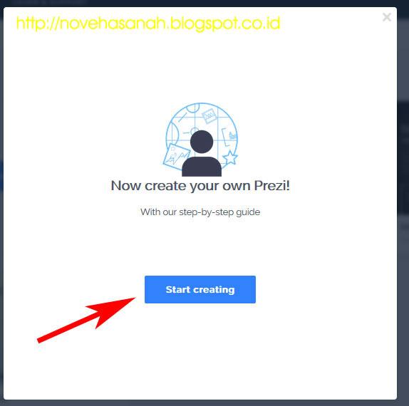 terakhir pada Tutorial Prezi (Cara Membuat Presentasi dengan Prezi): SERI 1 - Sign Up (Mendaftar) adalah dengan mengklik tombol create