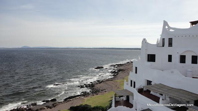 Vista do terraço da Casapueblo - Punta del Este, Uruguai