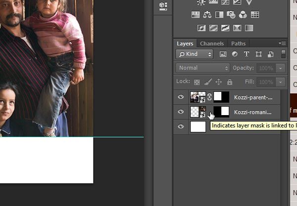 Unlink image layer and layer mask in Photoshop