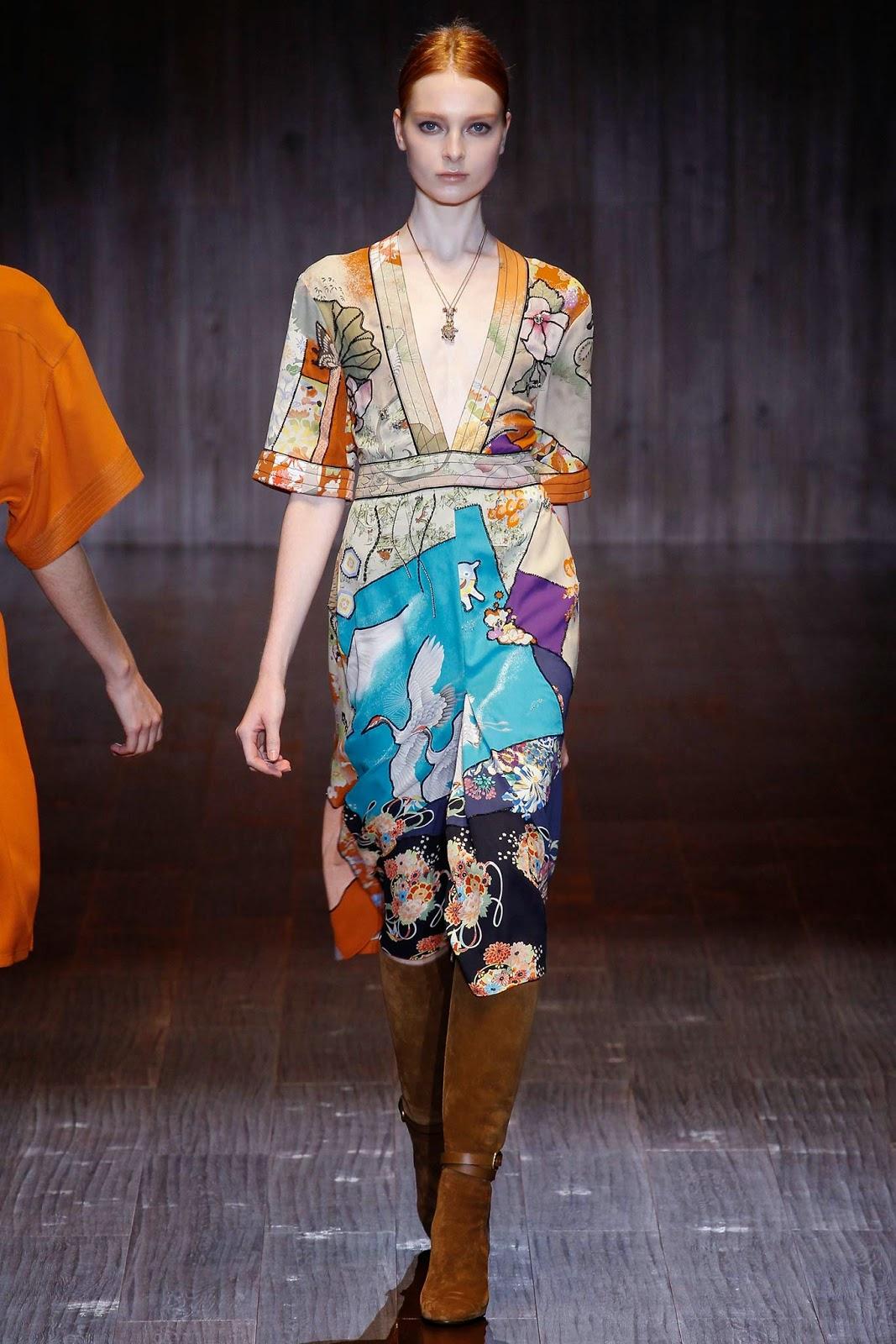 fashionstrendswomen: Gucci 2015 Les modèles de robe printemps été, la création de 205 vêtements ...