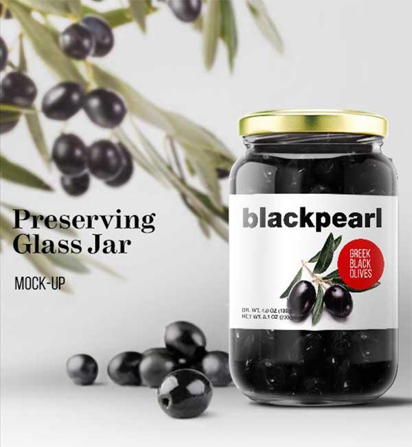 Preserving Glass Jar MockUp PSD