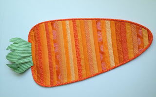quilted carrot table runner from etsy