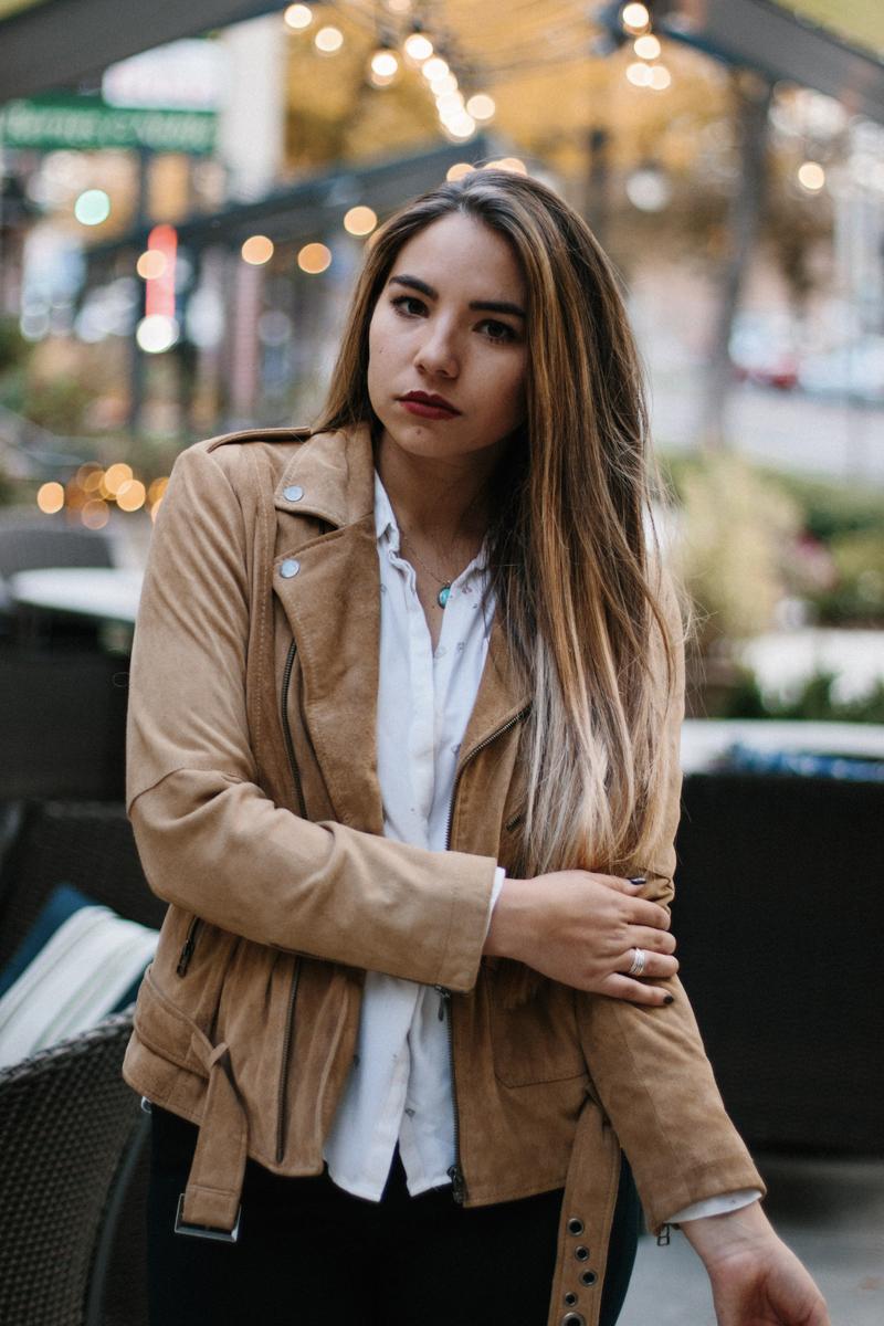 suede jacket, moto jacket, personal style blog