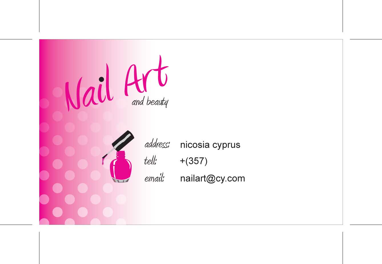 Free Nail Art Business Cards | Best Business Cards