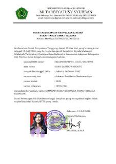 Surat Keterangan Pengganti Ijazah dan STTB  Wewenang, Syarat, Prosedur Penerbitan Surat Keterangan Pengganti Ijazah dan STTB