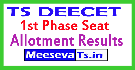 TS DEECET 1st Phase Seat Allotment Results 2017