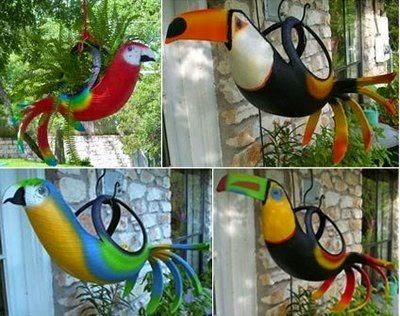 arte, pássaros, pneus