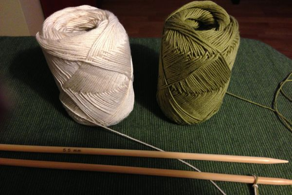 Knitting Casting Off Loosely : Save money with knitted dishcloths down to earth