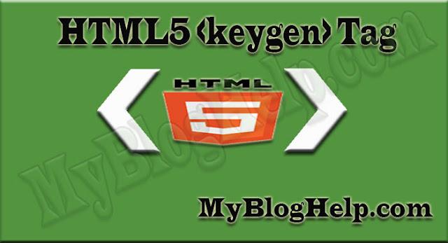 Html5 Keygen Tag