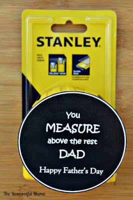 Easy Father's Day Gift with printable tag