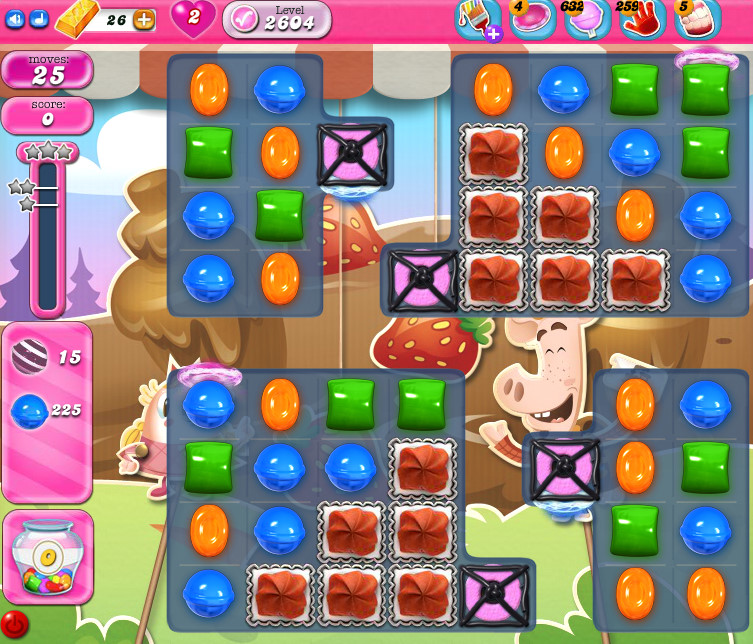 Candy Crush Saga level 2604