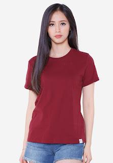 áo phông trơn màu đỏ đô