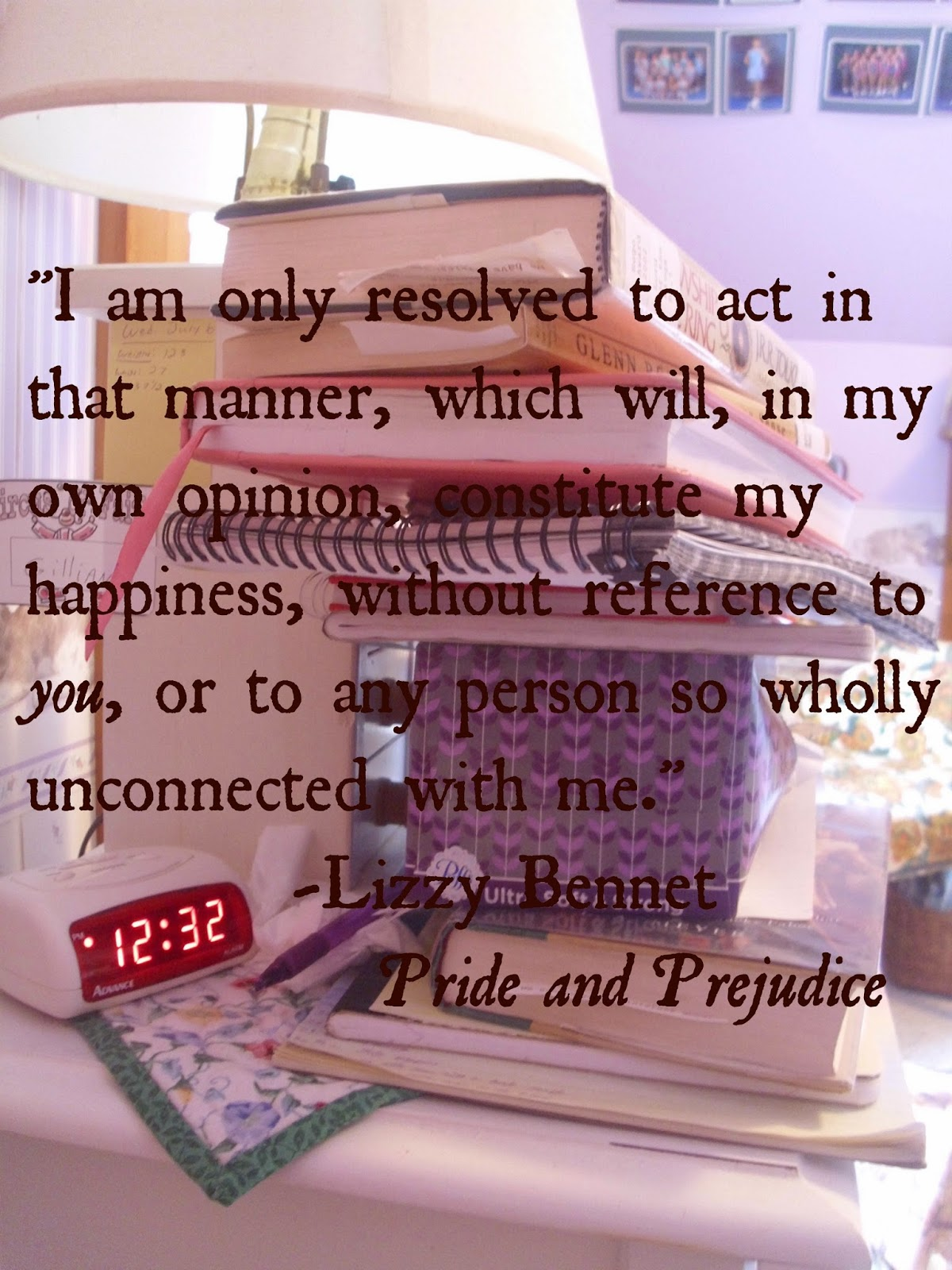 Lizzy Bennet Pride and Prejudice quote make your own happiness live your own life ll Young Yankee Lady