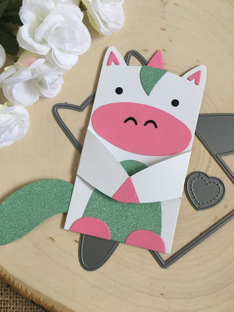 Make a Unicorn with Lawn Fawn Woodland Critter Huggers by Jess Crafts